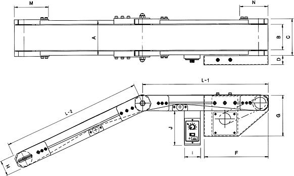 Incline Conveyor 외형도